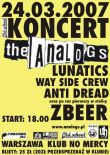 THE ANALOGS + ZBEER + LUNATICS + WSC + ANTI DREAD
