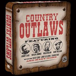 Country Outlaws ft. J. Cash, W. Jennings, W. Nelson, H. Williams (3 CD)