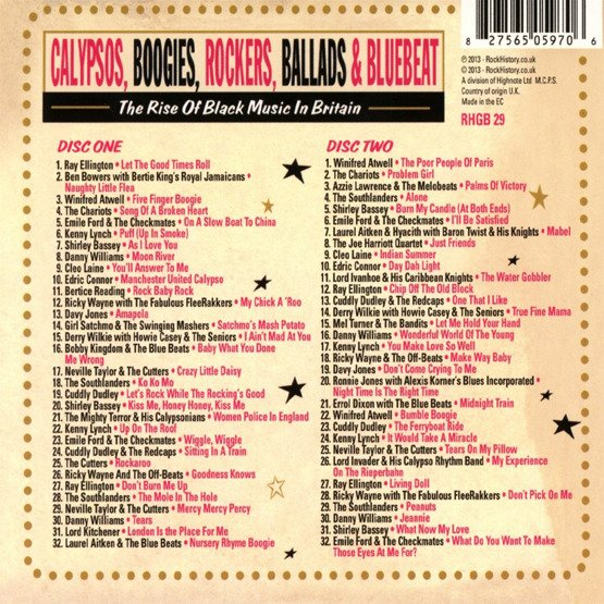 Calypsos, Boogies, Rockers, Ballads, & Bluebeat - The Rise Of Black Music In Britain (2 CD)